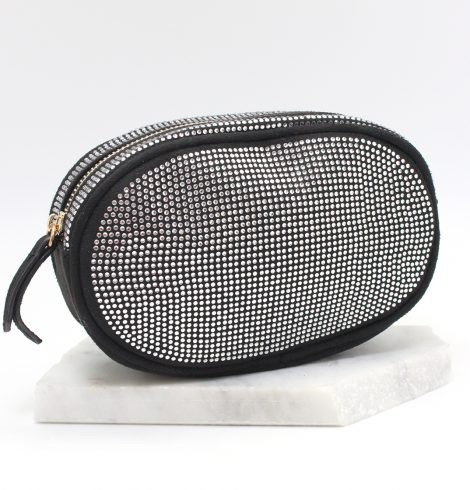 A photo of the Rhinestone Fanny Pack in Black product