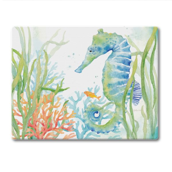 A photo of the Sea Life Serenade Cutting Board product