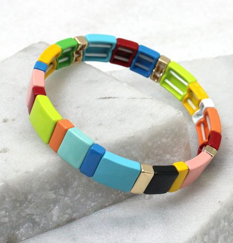 A photo of the So Bright Color Block Bracelet product