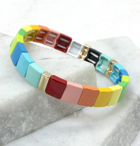 A photo of the So Colorful Color Block Bracelet product