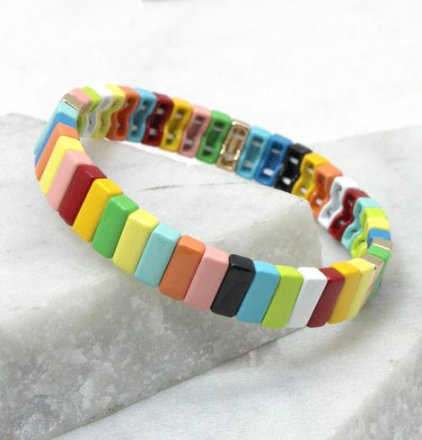 A photo of the So Fresh Color Block Bracelet product