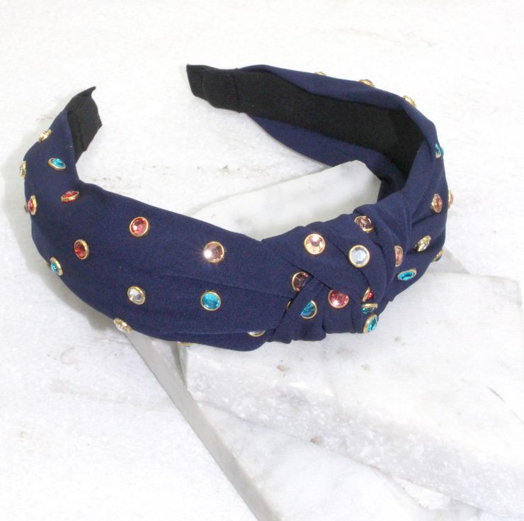 Studs and Knots Headband in Black