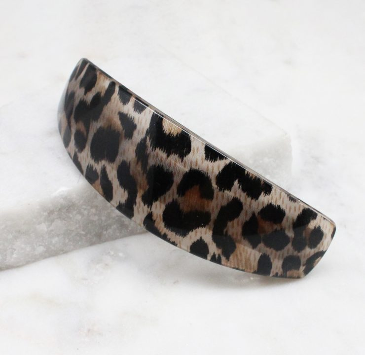 A photo of the Leopard French Barrette product