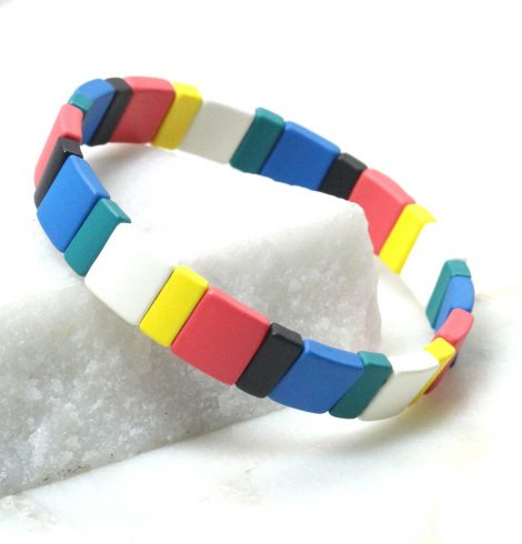 A photo of the The Brights Pieces Color Block Bracelet product