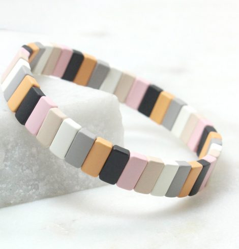 A photo of the The Dreamsicle Rectangle Color Block Bracelet product
