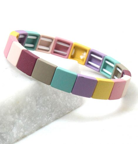A photo of the The Brights Square Color Block Bracelet product