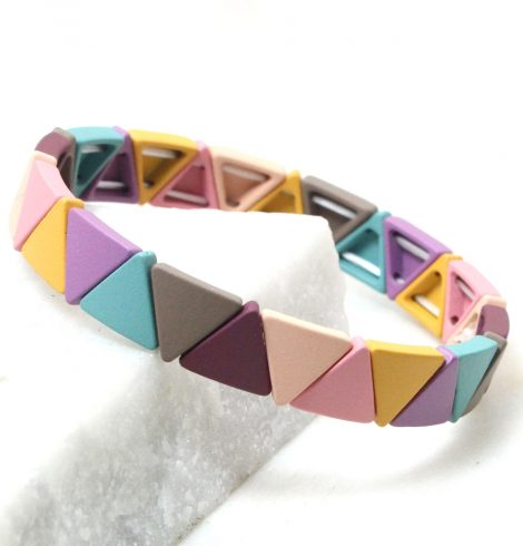 A photo of the The Pastels Triangle Color Block Bracelet product