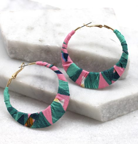 A photo of the Tropical Breeze Earrings in White product