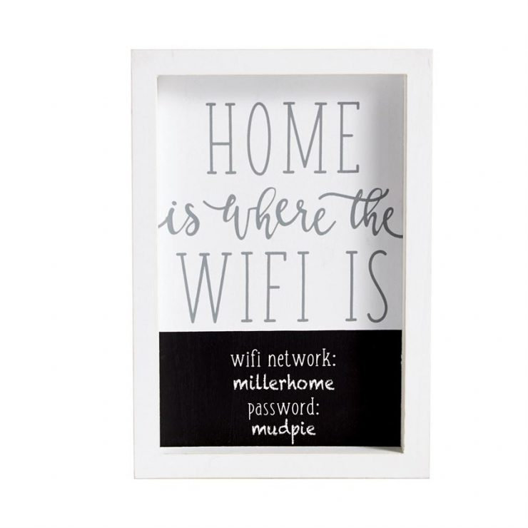 A photo of the Home Is Where The WIFI Plaque product