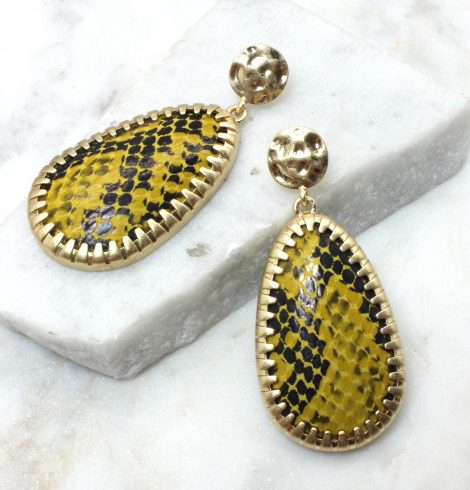 A photo of the Wild Ways Snow Leopard Earrings product