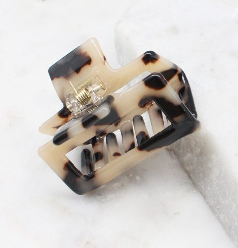 Beige Tortoise Shell Claw Clip