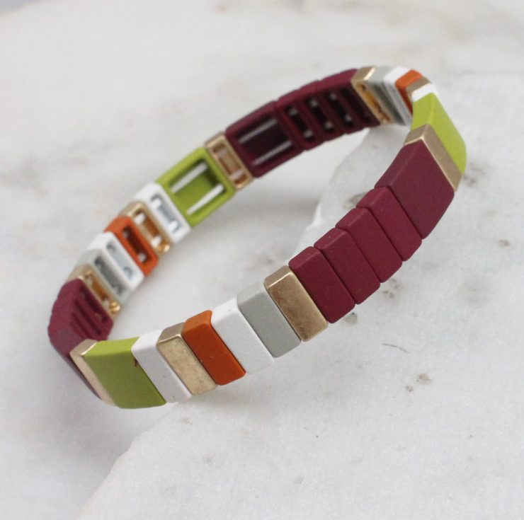 A photo of the Fall Feels Color Block Bracelet product