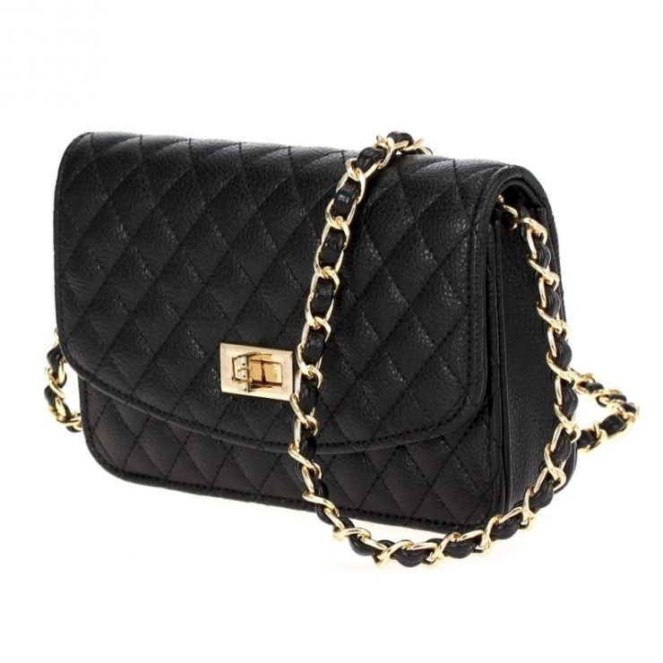 A photo of the Black Quilted Cross Body product