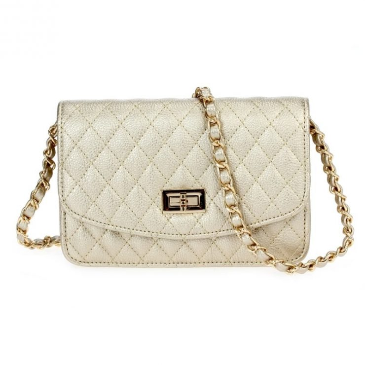 A photo of the Gold Quilted Cross Body product
