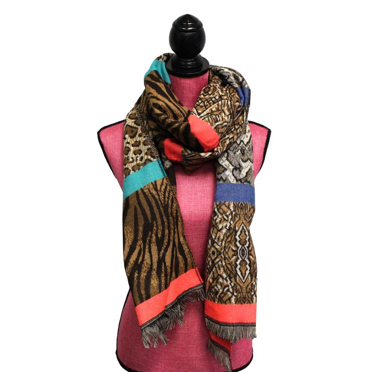 A photo of the Animal Prints Scarf product