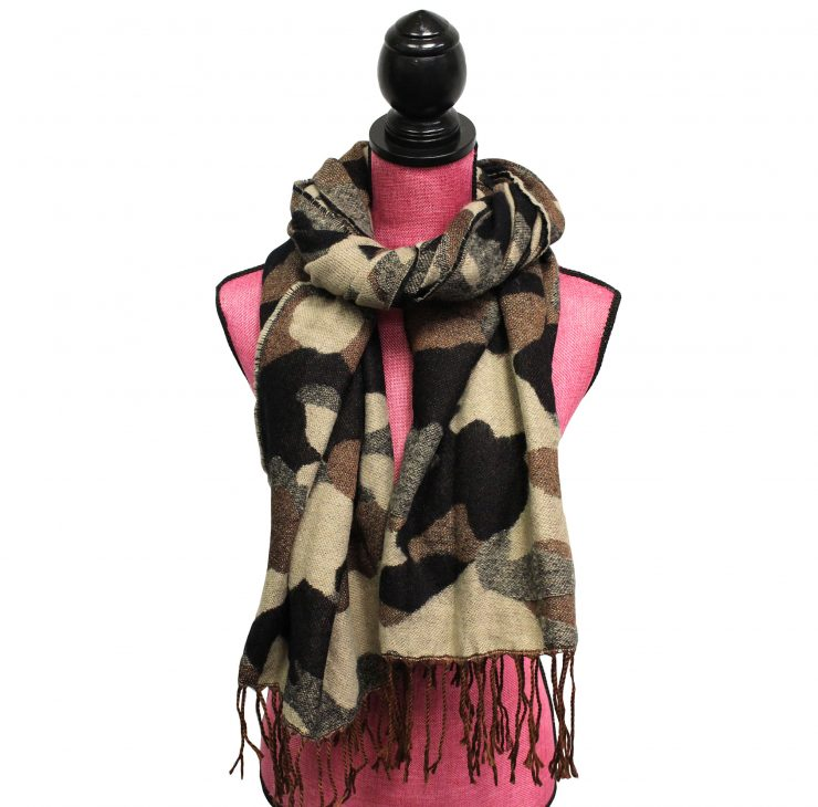 A photo of the Camo Print Scarf product