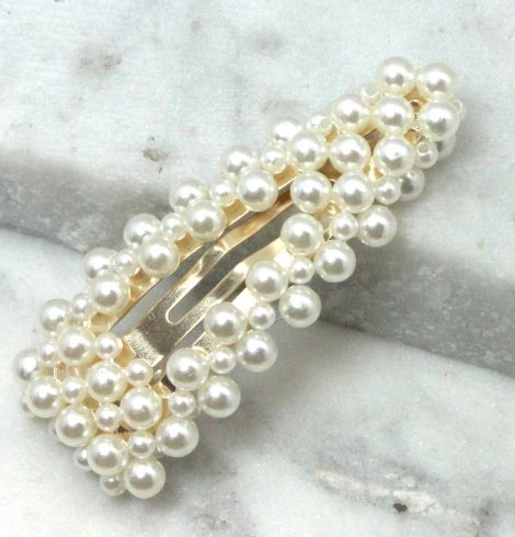 A photo of the Assorted Pearl Barrette product