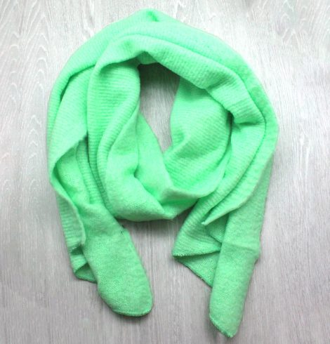 A photo of the Autumn Breeze Scarf in Mint product