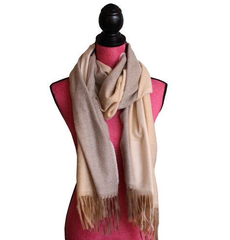 A photo of the Autumn Ombré Scarf In Cream product