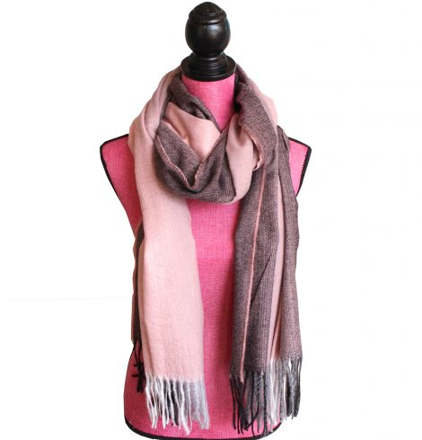 Autumn Ombré Scarf In Pink