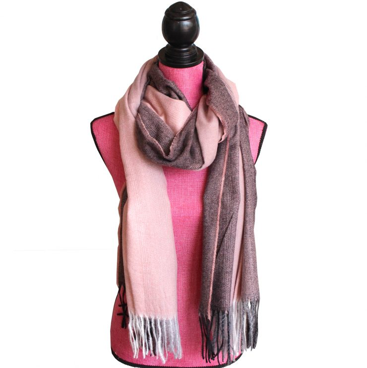 A photo of the Autumn Ombré Scarf In Pink product