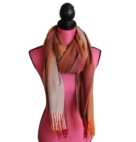 A photo of the Autumn Ombré Scarf In Red product