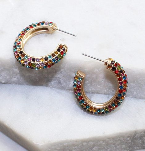A photo of the Ava Hoops In Multi-Colored product