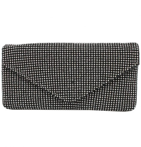 A photo of the Black Rhinestone Evening Bag product