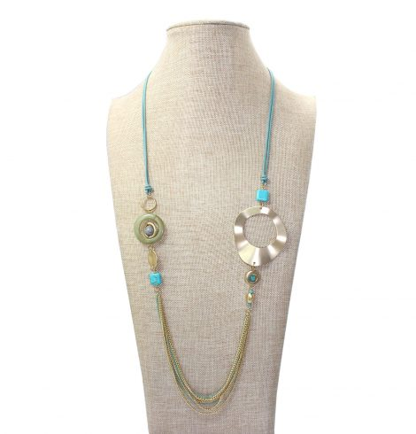 A photo of the Blue Chains Necklace product