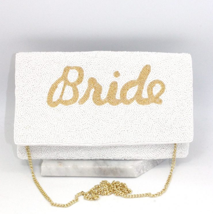 A photo of the Beaded Bride Clutch product