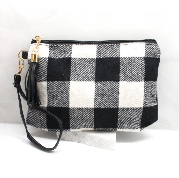 A photo of the Buffalo Check Pouch & Wirstlet product
