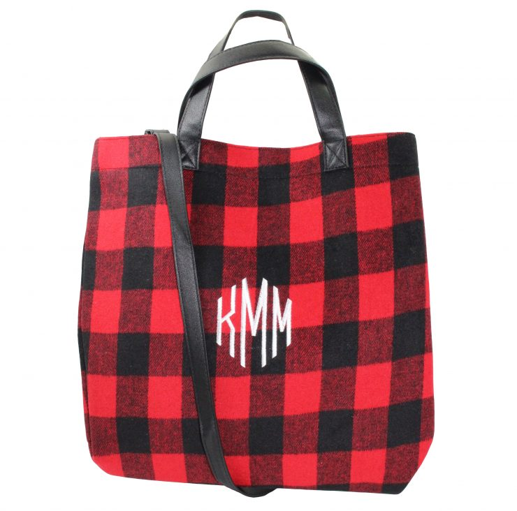 A photo of the Buffalo Check Tote Bag product