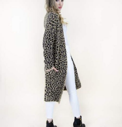 A photo of the Eyelash Cheetah Print Sweater product