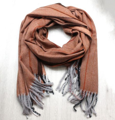 A photo of the Crisp Air Scarf in Brown product