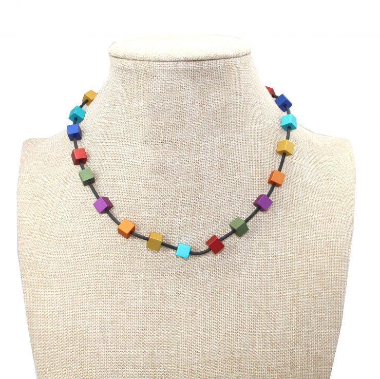 A photo of the Cubed Necklace product