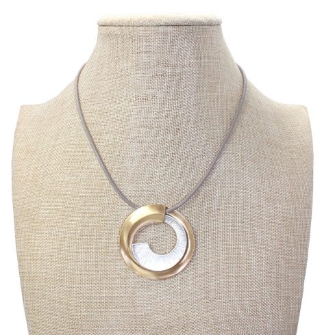 A photo of the Dial Me Up Necklace product