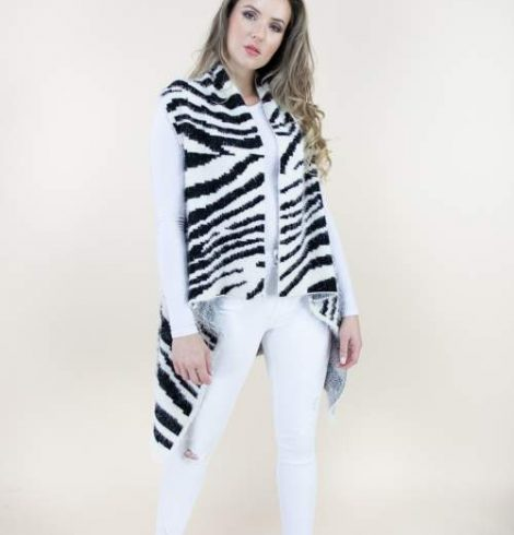 A photo of the Zebra Eyelash Vest product