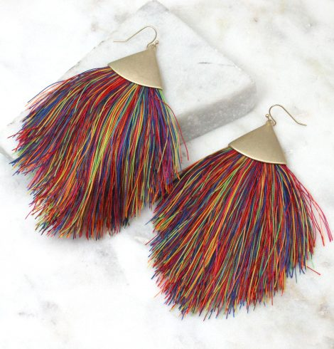 A photo of the Flounce Earrings in Multi Color product
