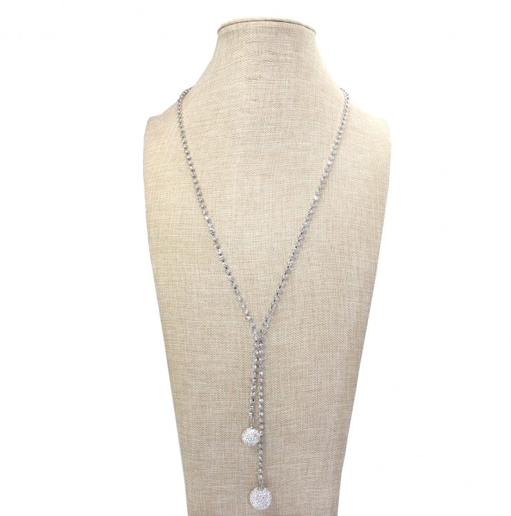 A photo of the Glitz Necklace in Silver product