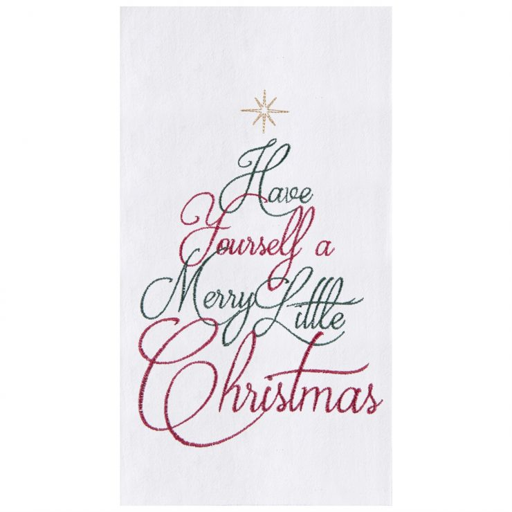 A photo of the Merry Little Christmas Towel product