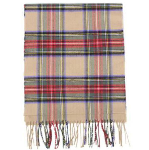 A photo of the Holiday Plaid Cashmere Feel Scarf product