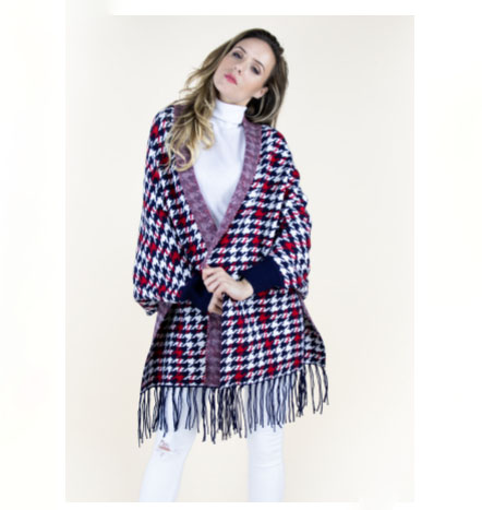 A photo of the Houndstooth Scarf Shawl product