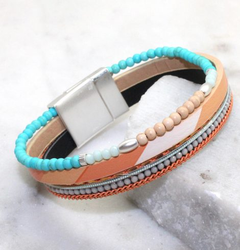 A photo of the Leili Bracelet in Blue product