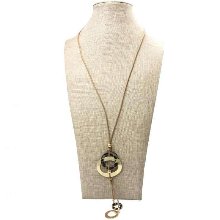 A photo of the Leopard Dial Necklace product