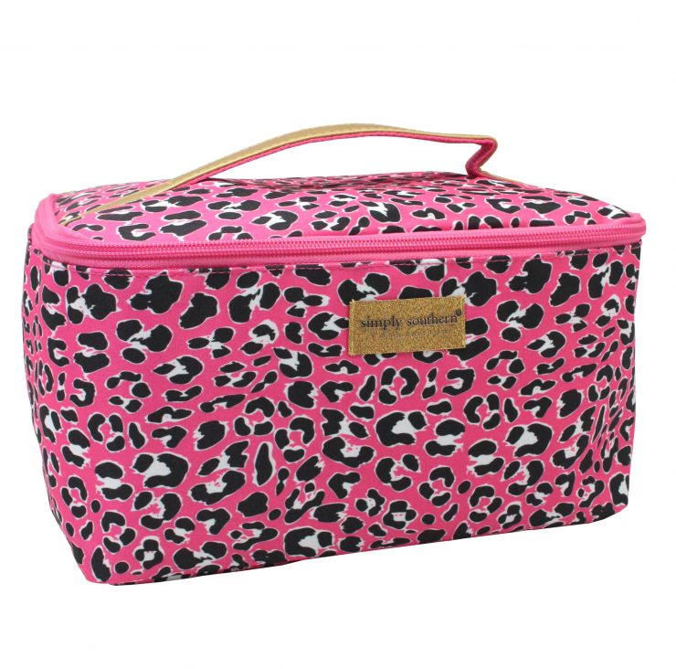 A photo of the Pink Leopard Glam Bag product
