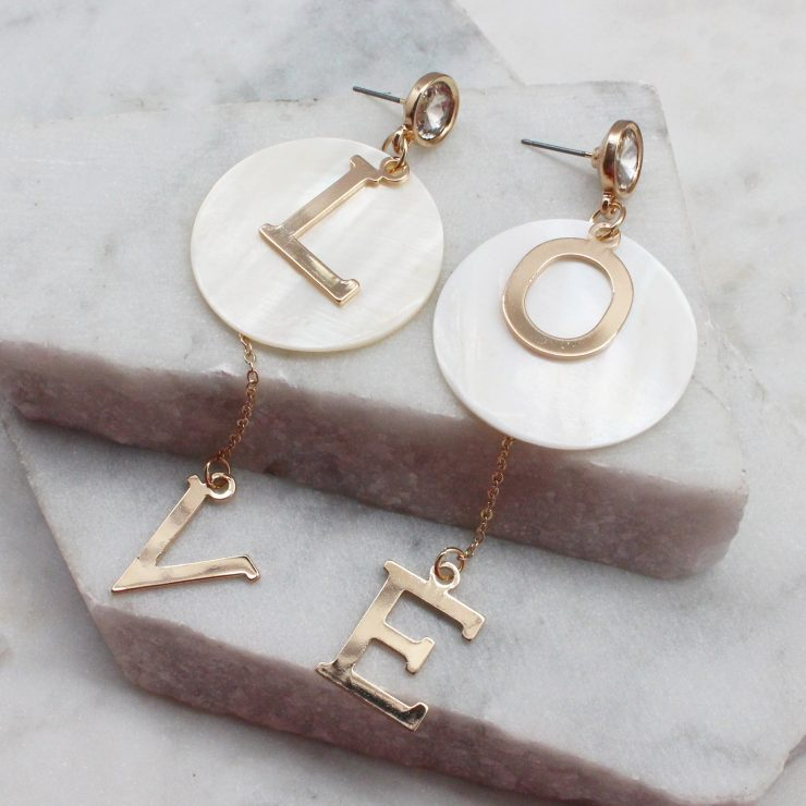 A photo of the Love Earrings product