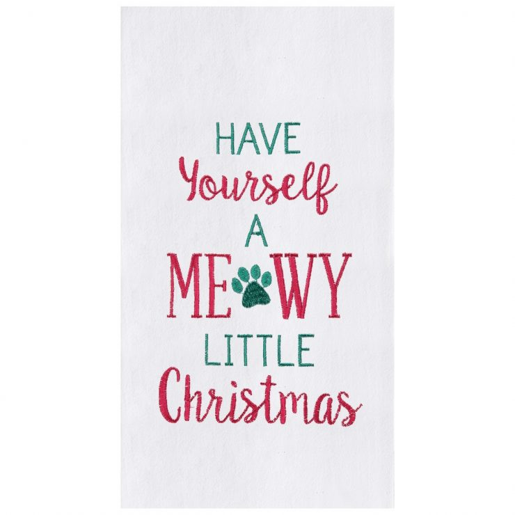A photo of the Meowy Little Christmas Towel product