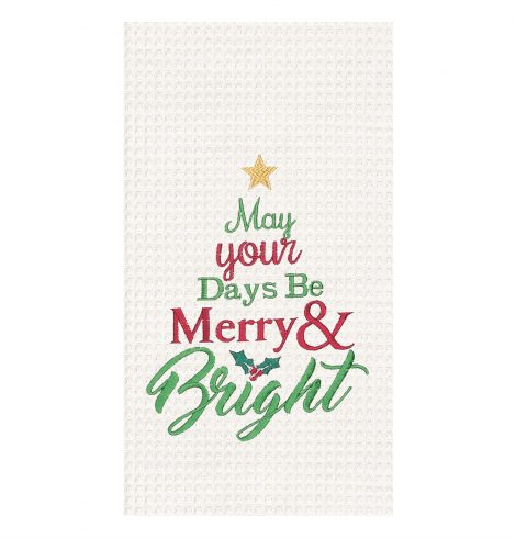 A photo of the Merry & Bright Kitchen Towel product