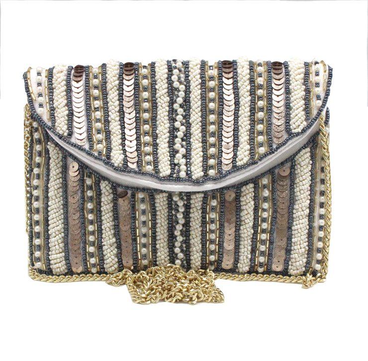 A photo of the Mini Pearl Beaded Bag product
