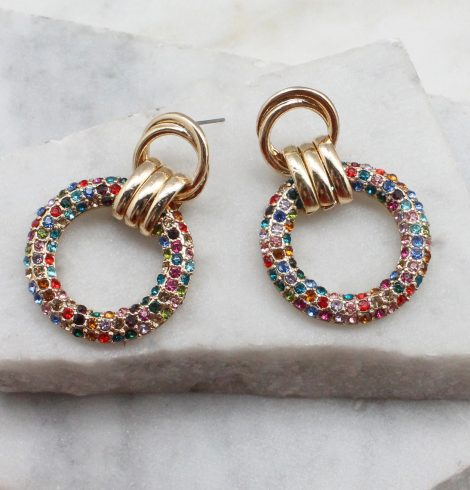 A photo of the Miranda Earrings In Multi-Colored product
